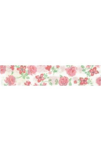 Biais fantaisie rose 157902