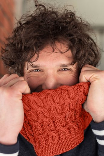 modelo Woolly snood para hombre - Explicaciones gratuitas