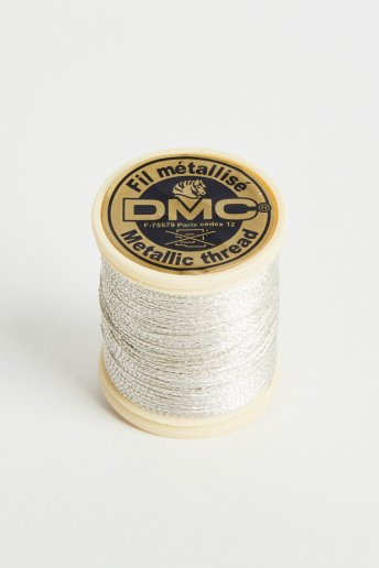 Metallic embroidery thread, silver