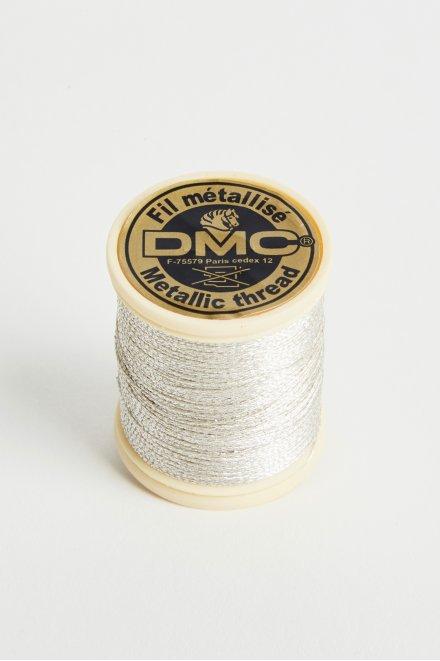 Metallic embroidery thread, silver