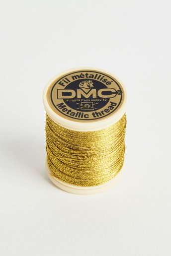 Metallic embroidery thread, dark gold