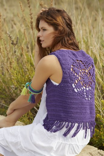 Modello crochet Boho gilet