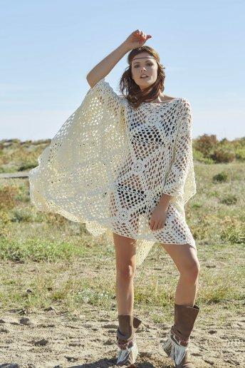 Modello crochet Django poncho