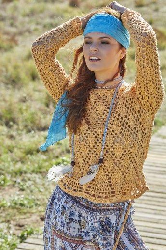 Modello crochet Coachella maglioncino