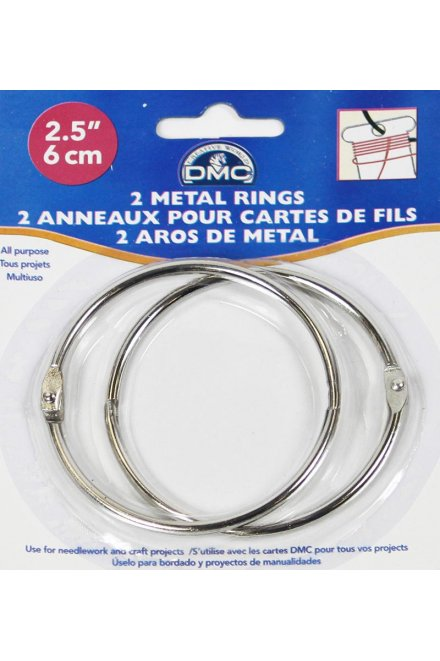 DMC Metal Craft Rings 2 ½