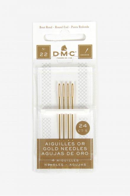 サイズ22/24K ゴールド エンブロイダリー針