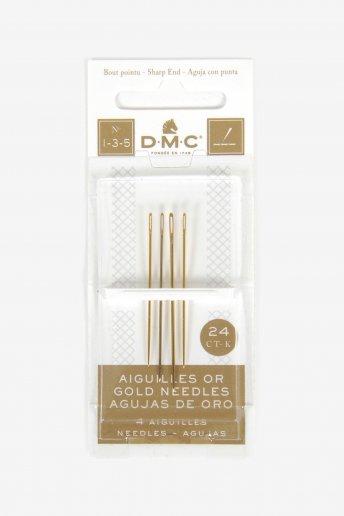 サイズ1-3-5/24K ゴールド エンブロイダリー針