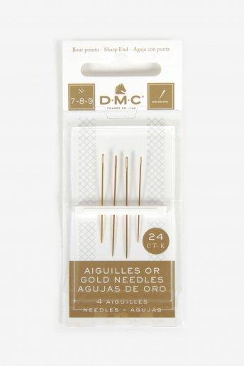 サイズ7-8-9/24K ゴールド エンブロイダリー針