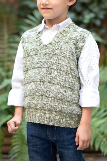 Boys' top knitting pattern Natura Denim n°6766