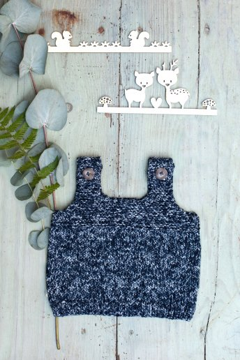 Baby's bib top knitting pattern Natura Denim n°6768