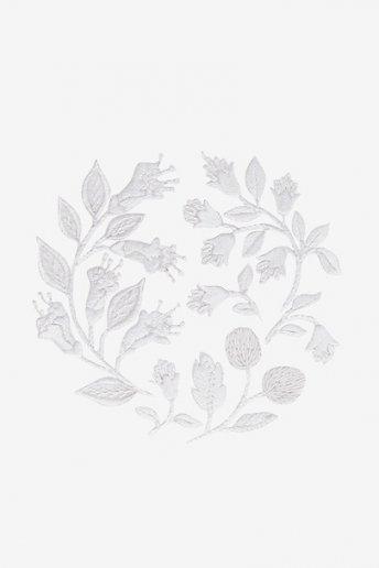 Fleurs de champs - motif broderie