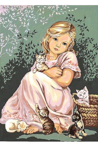 Fillette aux chats k70929_116