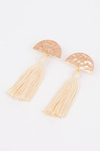 Boucles d'oreilles en demi-lune - motif loisirs créatifs