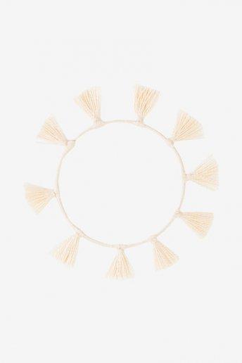 Braccialetto con nappine ecrù - SCHEMA GRATUITO