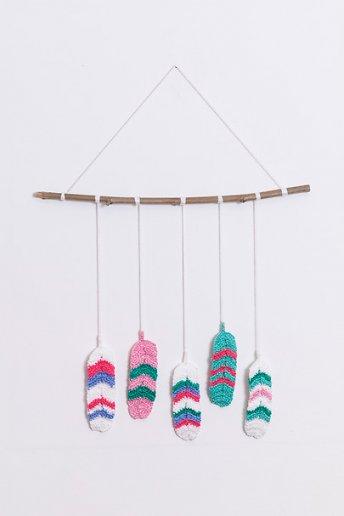 Plumes - motif crochet