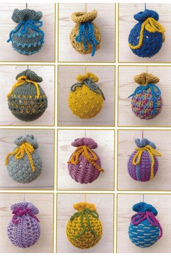 Bolas de tricô para o natal art. 15031/22