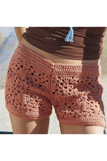 Patrón mini shorts de ganchillo azra
