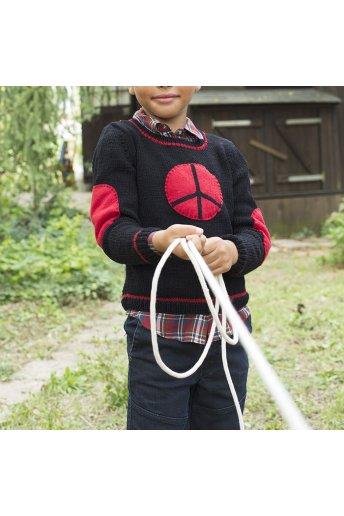 Modelo tricot bastian jersey niño pease & love