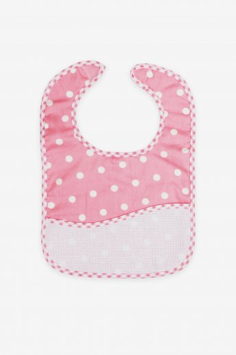 Pink Polka Dot Toddler Bib