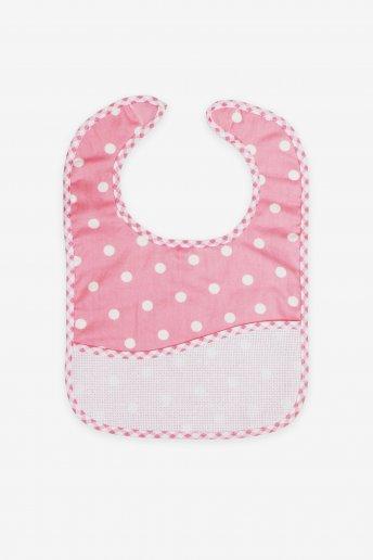 Pink Polka Dot Toddler Bib