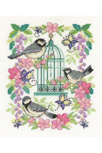Kit punto croce la gabbia degli uccellini bk1563