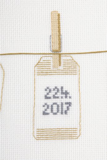 Personalisierbares Kreuzstich-Set Kleine Etiketten-Anhänger
