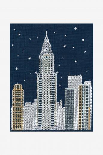 New York By Night Cross Stitch Kit