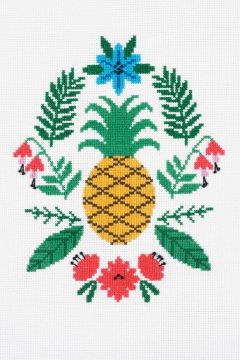 Stickset Ananas
