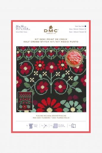 Stitch kit red geo flowers