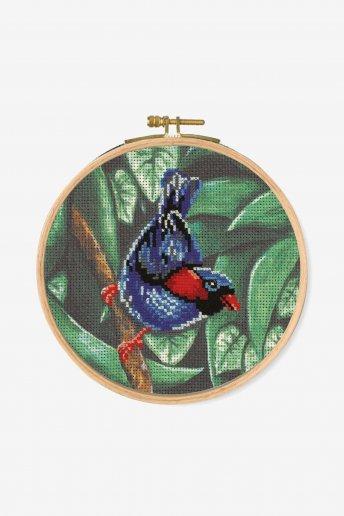 Kreuzstichset Papageien