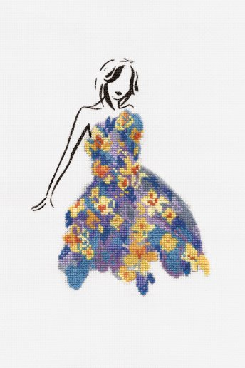 Kit ponto de cruz Balé de narcisos