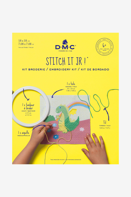 Kit de Bordar DMC-Mi primer Puntadas-Para Niños De 6+ El Dragón