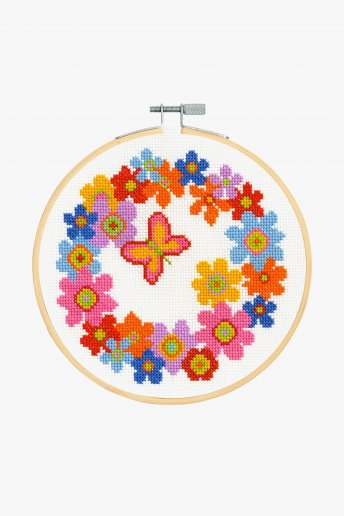 Floral Wreath Cross Stitch Kit