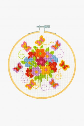 Flying Butterflies Cross Stitch Kit