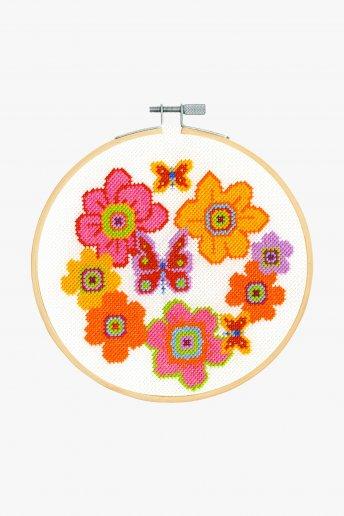 Kit ponto de cruz Grinalda Floral