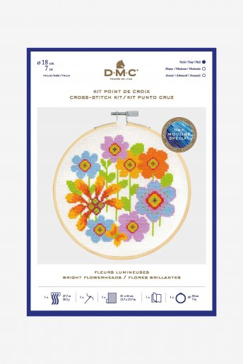 Bright Flowers Cross Stitch Kit