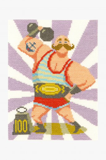 Strong Man Cross Stitch Kit