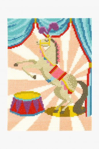 Circus horse cross stitch kit