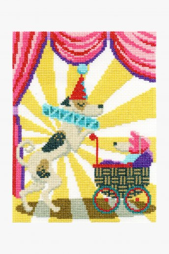 Cross stitch kit Clowning Around