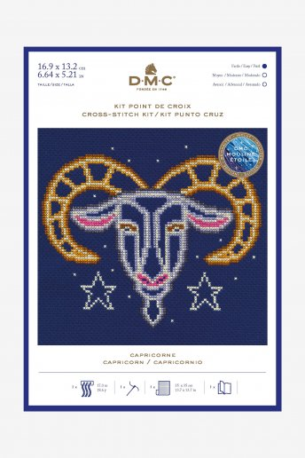 Star sign cross stitch kit - Capricorn