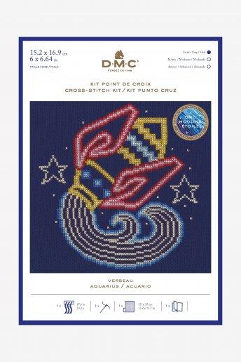 Kit punto croce segno zodiacale Acquario