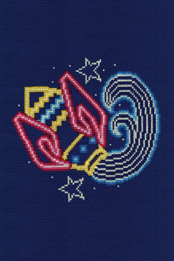 Star sign cross stitch kit - Aquarius