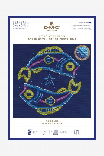 Star sign cross stitch kit - Pisces