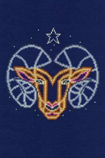 Star sign cross stitch kit - Aries