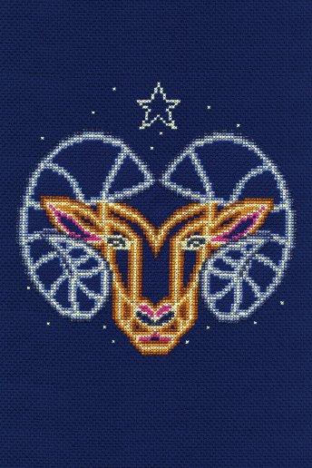 Kit point de croix signe du zodiaque Bélier