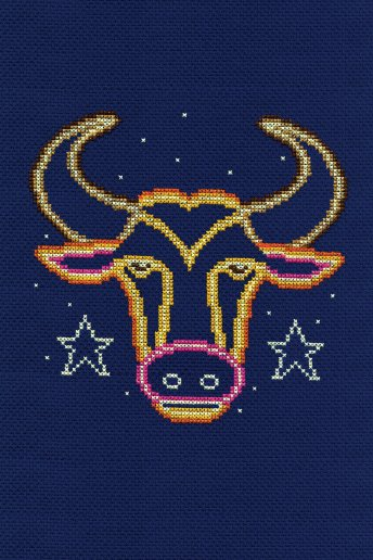 Star sign cross stitch kit - Taurus