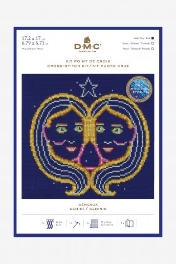 Star sign cross stitch kit - Gemini