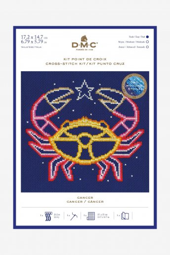 Star sign cross stitch kit - Cancer