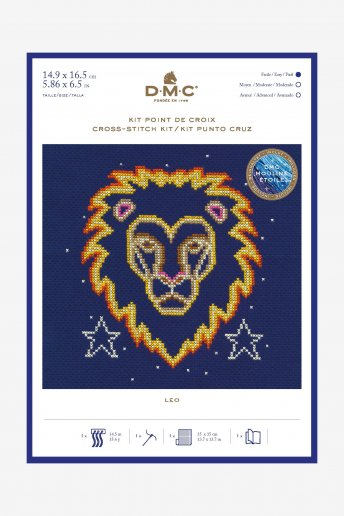 Star sign cross stitch kit - Leo