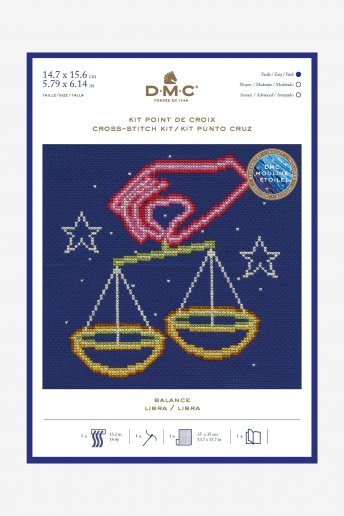 Star sign cross stitch kit - Libra